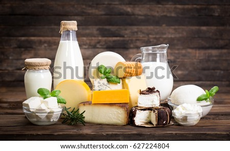 Various dairy products #627224804