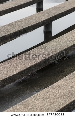 stone bench in stadium #627230063