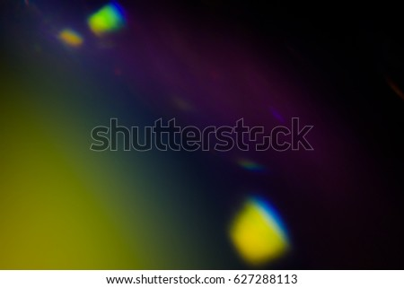 Dark overlay background of blue LED lights with bokeh effect #627288113