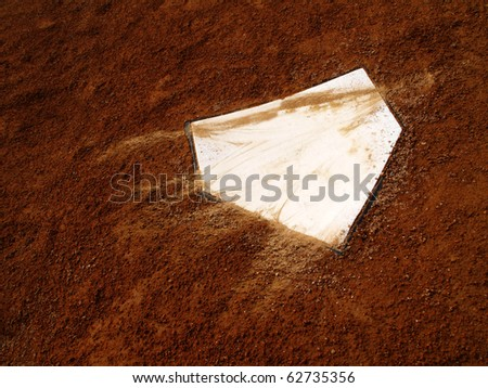 Home plate on baseball field with copy space #62735356
