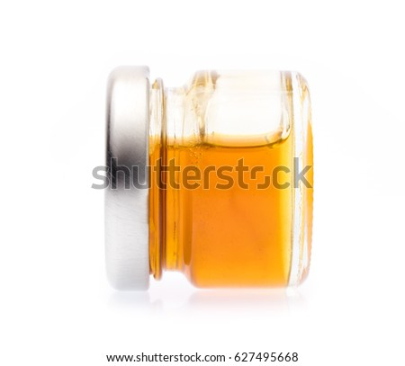 honey jar isolated on white background #627495668