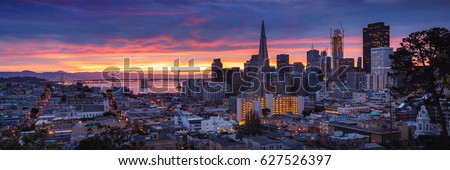 San Francisco Skyline at Sunrise, California, USA
