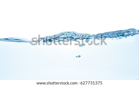 Water waves. Clear Water wave isolated on white background #627731375