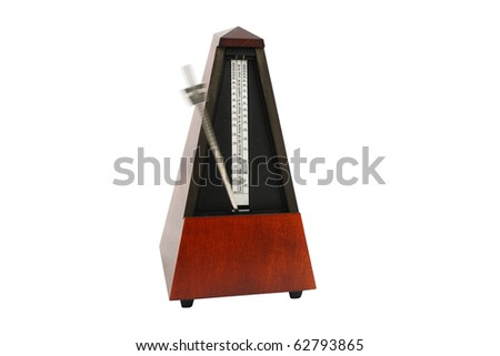 The image of metronomes under the white background #62793865