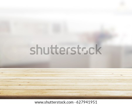 closeup top wood table with Blur Background #627941951