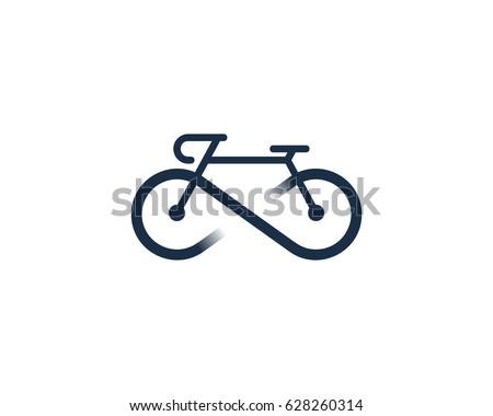 Infinity Bike Icon Logo Design Element