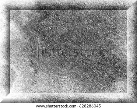 Grunge background of black and white. Black and white background with frame. Abstract texture of scratch, dust, smudges and lines. Black and white old background for text #628286045