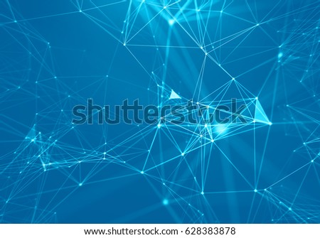 Abstract Geometrical Background ..Futuristic technology style. Neon Sign . HUD Element . Elegant . Big data visualization .
