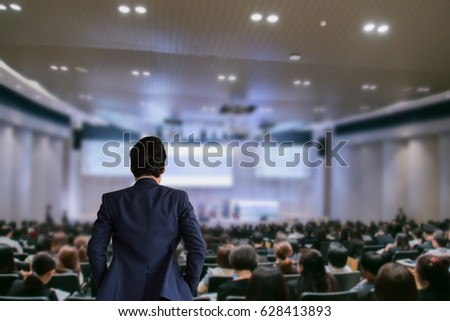 The Businessman in the auditorium. #628413893