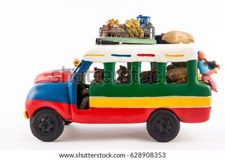 Colorful traditional rural bus from Colombia called chiva #628908353