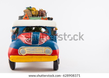 Colorful traditional rural bus from Colombia called chiva #628908371