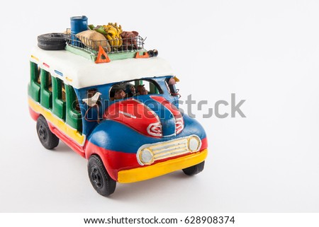 Colorful traditional rural bus from Colombia called chiva #628908374