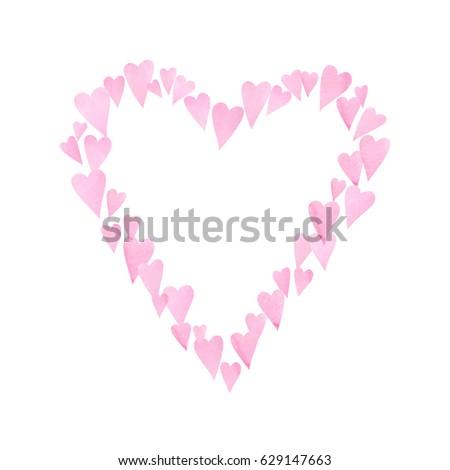 Watercolor heart #629147663