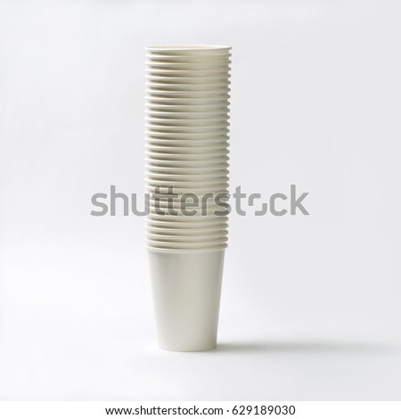 Thai paper coffee cup on white background. #629189030
