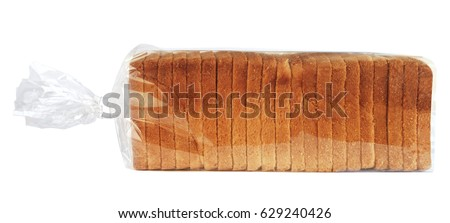 Sliced toast bread in plastic bag #629240426