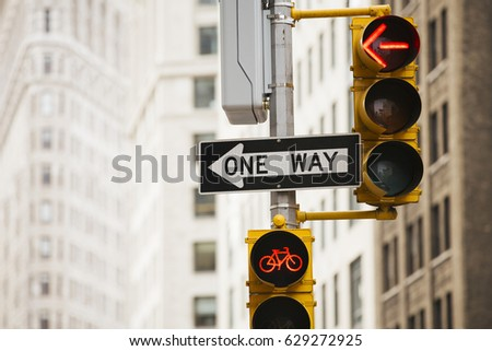 Signal one way in New York.