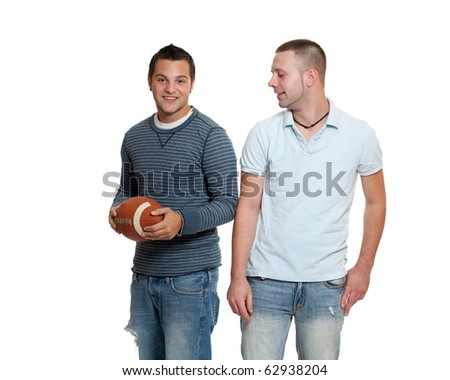 Two men with football #62938204