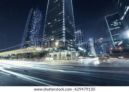 Traffic through the modern city #629479130