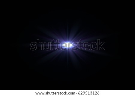 digital lens flare with bright light in black background used for texture and material  #629513126