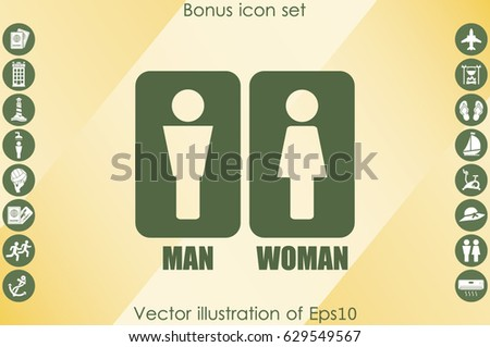 Man and Woman Icon Vector #629549567