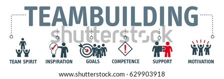 team building. Banner with keywords and icons Royalty-Free Stock Photo #629903918