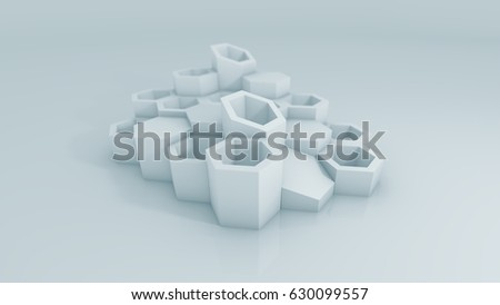 3D Illustration - Abstract Architecture #630099557