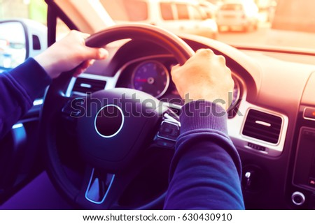 Driving a Car / Steering Wheel #630430910