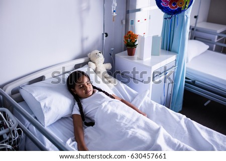 Patient resting in ward at hospital #630457661