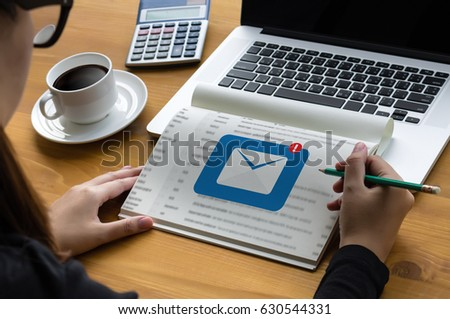 Mail Communication Connection message to mailing contacts phone Global Letters Concept #630544331