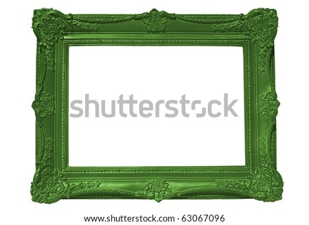 Empty Green Frame