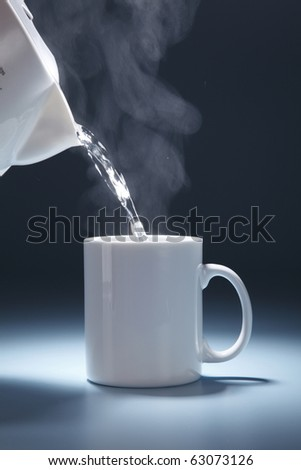 stock image of pouring hot drink to the mug #63073126