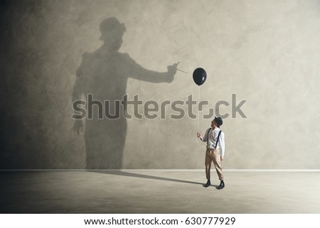 Quarrel with its shadow