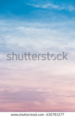 Cloud and sky with a pastel colored background #630781277