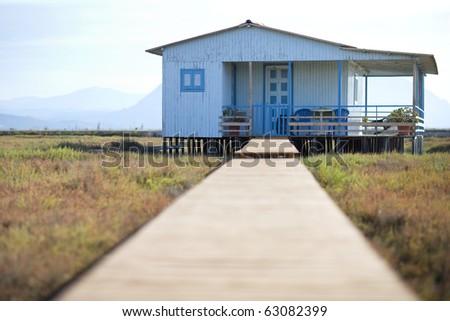 blue house of sunrise #63082399