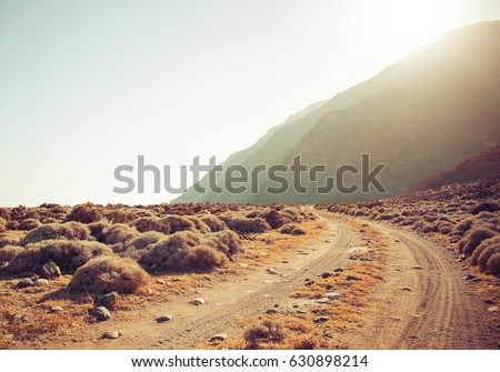 Dirt road rally background #630898214