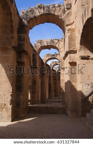 The ruins of ancient Carthage. Historic sites in Tunisia. #631327844