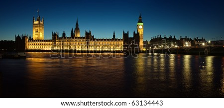 Panoramic picture of Houses of Parliament.