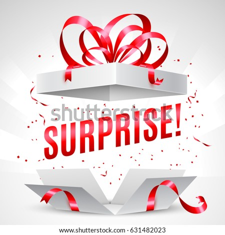 Surprise gift box Royalty-Free Stock Photo #631482023