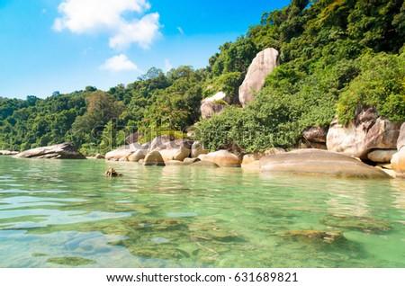 Big Stones Blue Seascape  #631689821