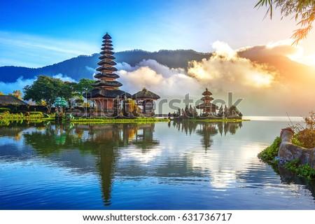 pura ulun danu bratan temple in Bali, indonesia. Royalty-Free Stock Photo #631736717