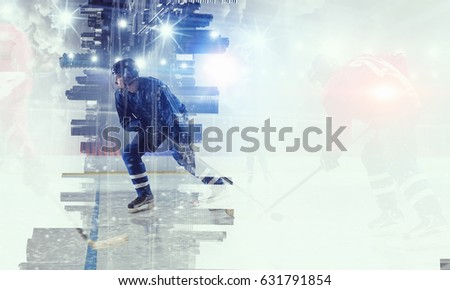 Hockey players on ice