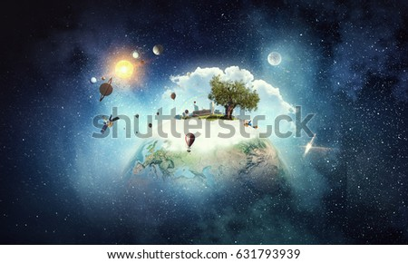 Moments of world creation and organization Royalty-Free Stock Photo #631793939