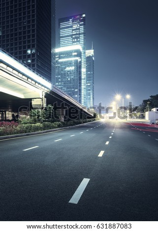 city night scenes at shenzhen,china #631887083