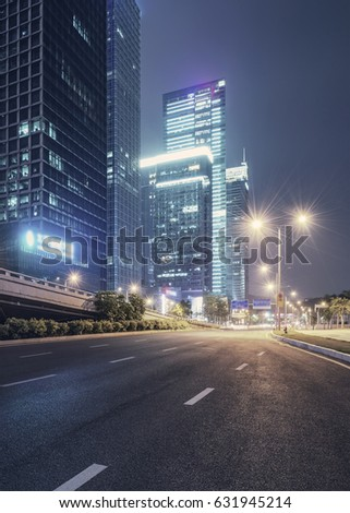 city night scenes at shenzhen,china #631945214