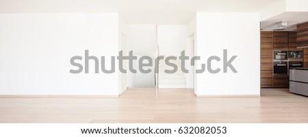 Empty room, wide kitchen #632082053