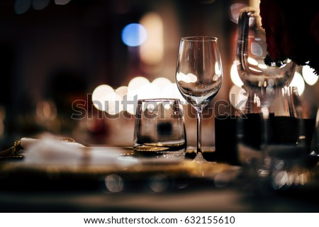 Luxury Table setting.   #632155610