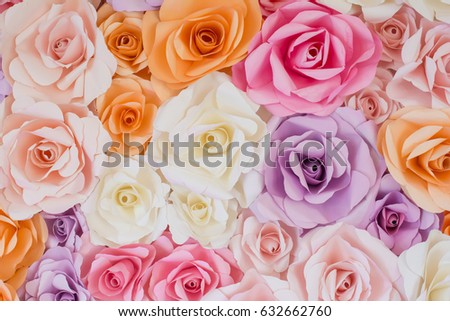 rose flowers paper background #632662760