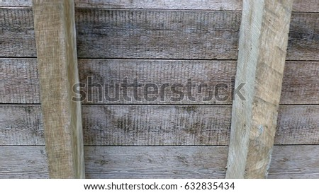 Wooden ceiling (planks and beams)  #632835434