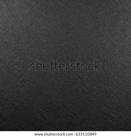Natural bright black fiber linen fabric texture, large detailed macro closeup, rustic vintage textured burlap canvas background, diagonal pattern, horizontal copy space #633110849