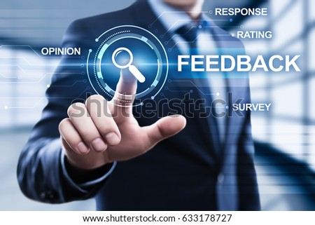 Feedback Business Quality Opinion Service Communication concept #633178727